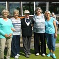 Finalists - Barbara Gaskell & Enid Hilton and Anne Broadrick & Margaret Booth with Referee, Evelyn Hastings