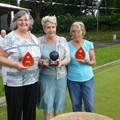 National Chairman, Jenny Rideout, with the Winners, Anne Broadrick & Margaret Booth