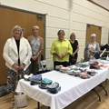Here is a photo of members of Dronfield Woodhouse TG - Pam Shaw, Sue Nelmes, Jo Fox, Anna Swift - who have been sewing face masks for key workers with a local group since the beginning of lockdown.