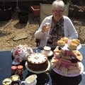 Linda Nicholls from Uplands and District (Bristol) Guild made afternoon tea for herself and husband!