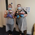 Townswomen in Bournemouth knitted PPE wearing bears which were given to Southampton Children's services. The bears aim to make children more comfortable with personal protective equipment.