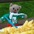 TG Ted enjoying fish and chips in Cleethorpes!