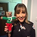 TV Presenter Mel Giedroyc with her red nose TG Ted!